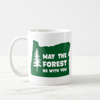 May the Forest Be With You Oregon Classic White Coffee Mug