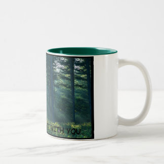 may the forest be with you - spoof Two-Tone coffee mug