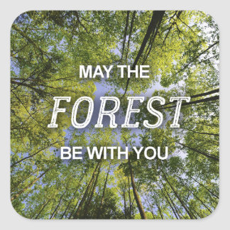 May the Forest Be With You stickers sheet