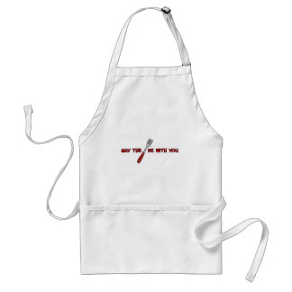may the fork be with you adult apron