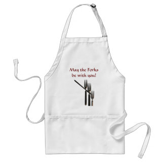 May The Forks Be With You Adult Apron