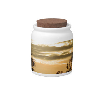 May the Glory of God shine upon you sunset photo Candy Jar