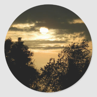 May the Glory of God shine upon you sunset photo Classic Round Sticker