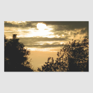 May the Glory of God shine upon you sunset photo Rectangular Sticker