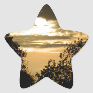 May the Glory of God shine upon you sunset photo Star Sticker
