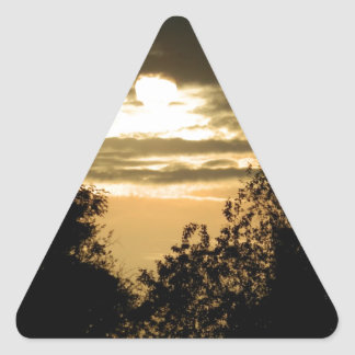 May the Glory of God shine upon you sunset photo Triangle Sticker