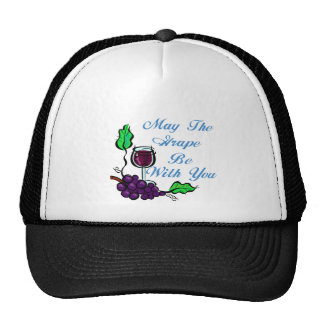 May The Grape Be With You blue Trucker Hat