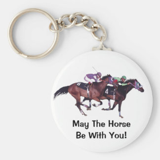 May The Horse Be With You! Basic Round Button Keychain