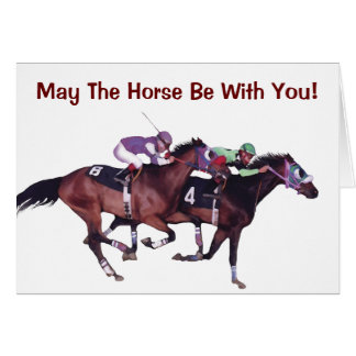 May The Horse Be With You! Cards