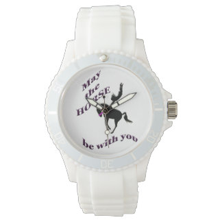 may the horse be with you. wrist watch