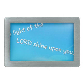 May the Light of the Lord Shine Rectangular Belt Buckle