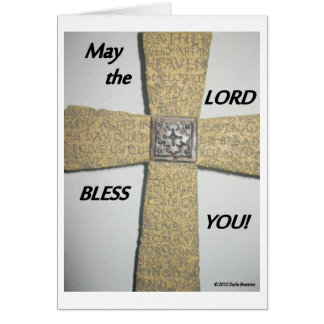 May the Lord Bless You Greeting Card
