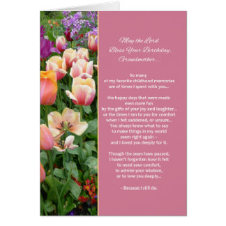 May the Lord Bless Your Birthday, Grandmother... Card