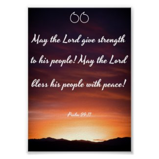 May the Lord give strength - Bible Poster