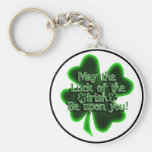 May the Luck of the Irish... Basic Round Button Keychain