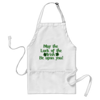 May the Luck of The Irish...Text Image Adult Apron