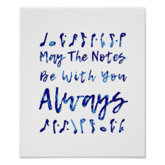 May The Notes Be With You Always Poster