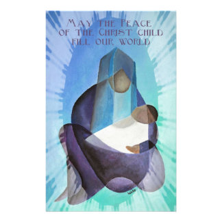May The Peace Of The Christ Child Fill Our World Customized Stationery