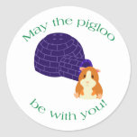 May the Pigloo Muffin Stickers