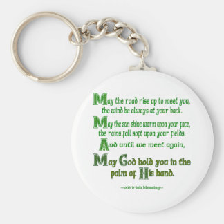 May the Road Rise To Meet You Key Chain