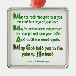 May the Road Rise To Meet You Metal Ornament