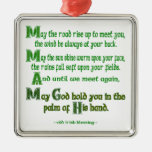 May the Road Rise To Meet You Square Metal Christmas Ornament