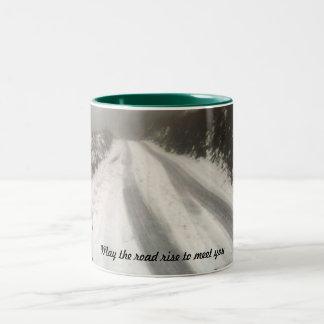 May the road rise to meet you Two-Tone coffee mug