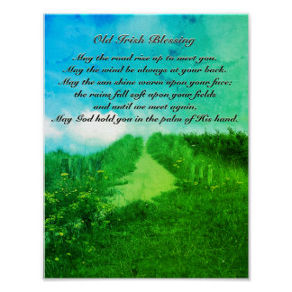 May the Road Rise up to Meet You, Irish Blessing Poster