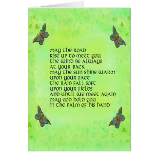 May the road rise up to meet you - Irish poem Note Card