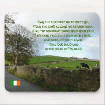 May the road rise up to meet you-Irish Verse Mouse Pad