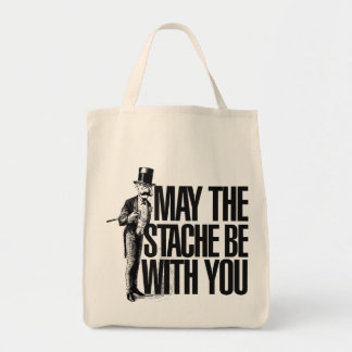 May the STACHE be with you Canvas Bags