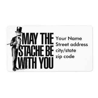 May the STACHE be with you Label