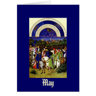 May - the Tres Riches Heures du Duc de Berry Stationery Note Card
