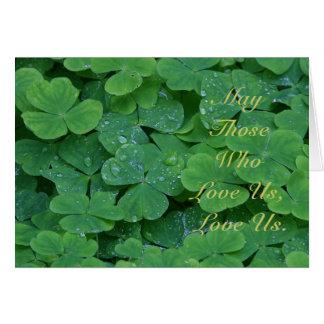 May Those Who Love Us, Love Us. Card