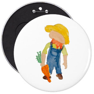 May Toddie Time Spring Planting Farmer Toddler Button