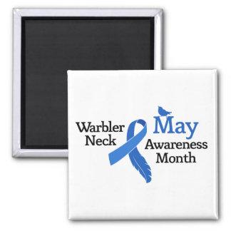 May Warbler Neck Awareness Month Magnet