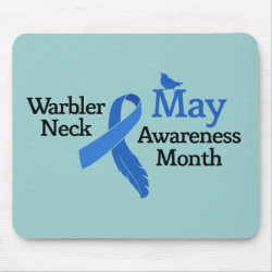 Mousepad with May Warbler Neck Awareness Month design