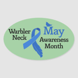 May Warbler Neck Awareness Month Oval Sticker