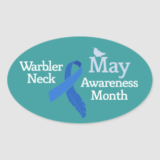 May Warbler Neck Awareness Month Stickers