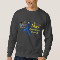 May Warbler Neck Awareness Month Men's Basic Sweatshirt