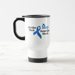 Travel / Commuter Mug with May Warbler Neck Awareness Month design