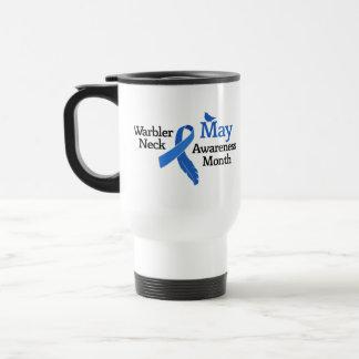May Warbler Neck Awareness Month Travel Mug
