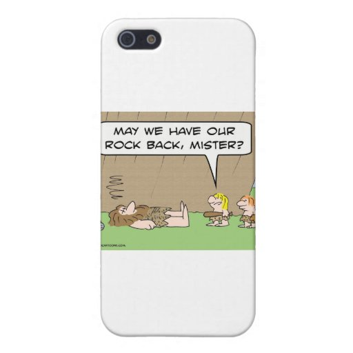 May we have our rock back, mister? iPhone 5 case