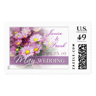 May Wedding Bride & Groom Custom Postage Stamp