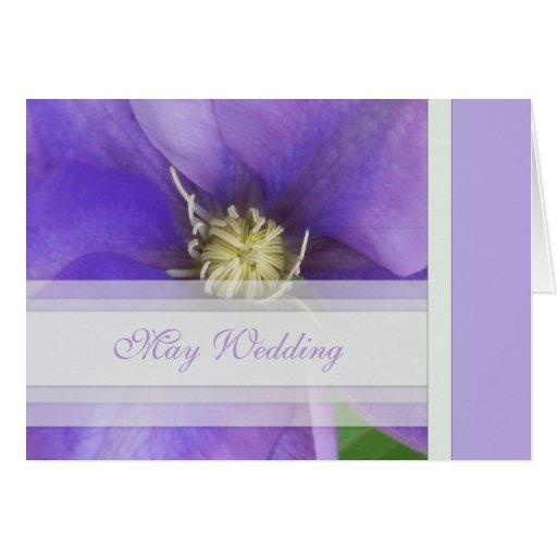 May Wedding Invitation Card