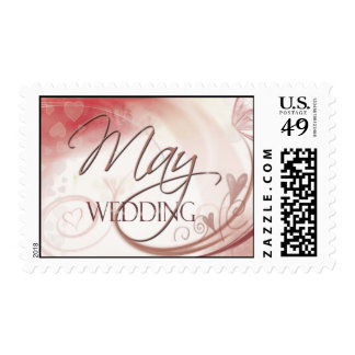 May Wedding Postage pastel hearts