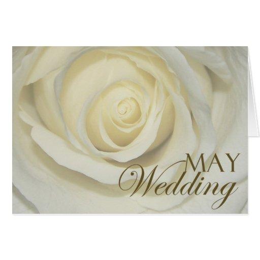 May Wedding Rose Card