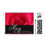May Wedding Stamps with red rose