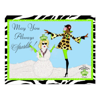 May You Always Sparkle / Mental Health Diva Pcards Postcard