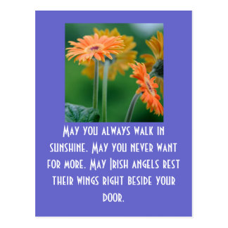 May you always walk in sunshine. M... Postcard